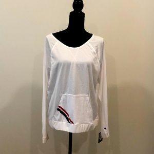 NWT Champion Mesh Crew Shirt White